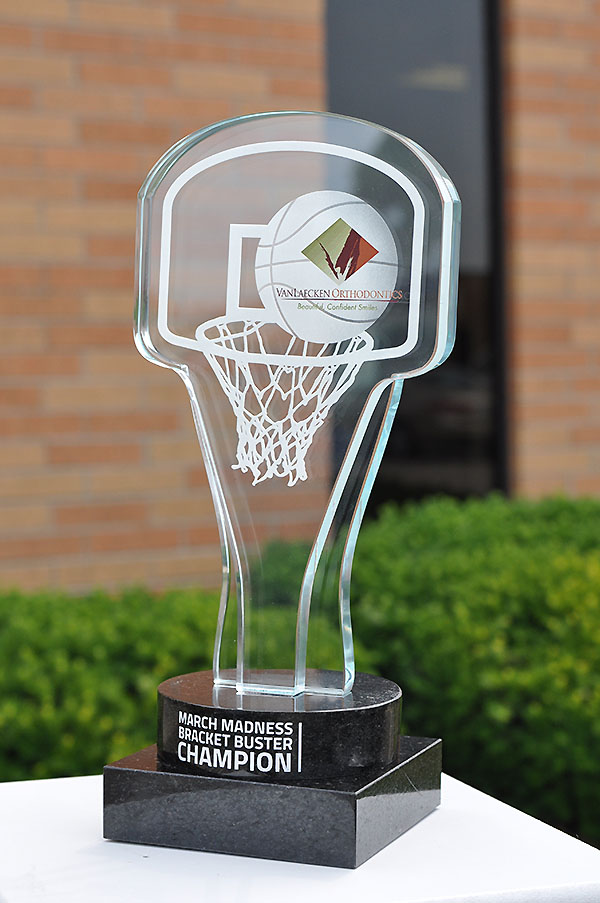 Premium Custom Awards | Custom Glass Basketball Trophy