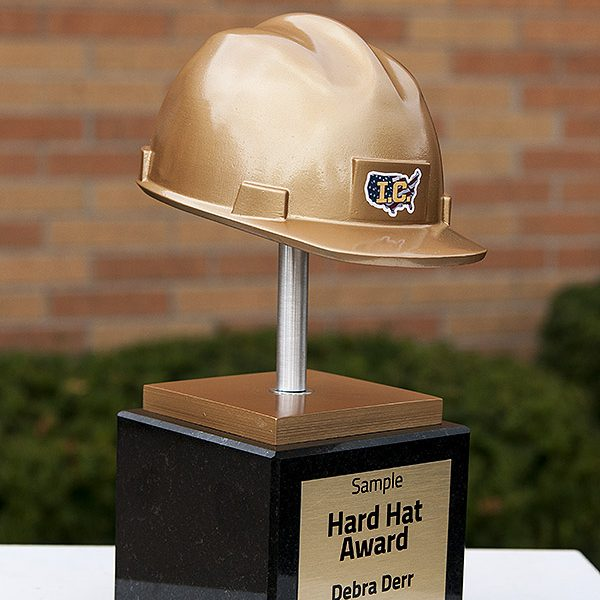 Premium Custom Awards | 3D Print Hard Hat Award Trophy